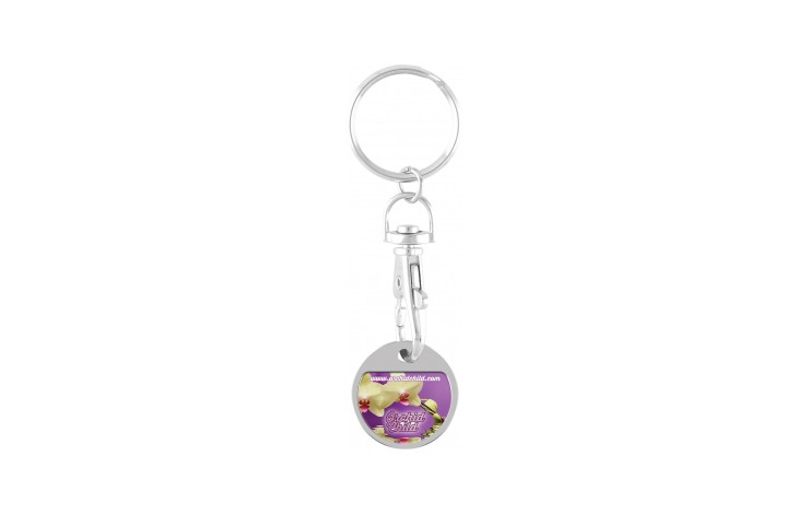 Express Full Colour Trolley Coin Keyring