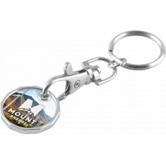 Full Colour Trolley Coin Keyring - New Shape