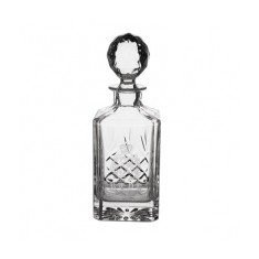 Gallery Lead Crystal Panel Square Spirit Decanter