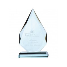Jade Glass Facetted Diamond Peak Award