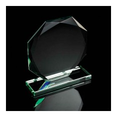 Jade Glass Octagonal Award