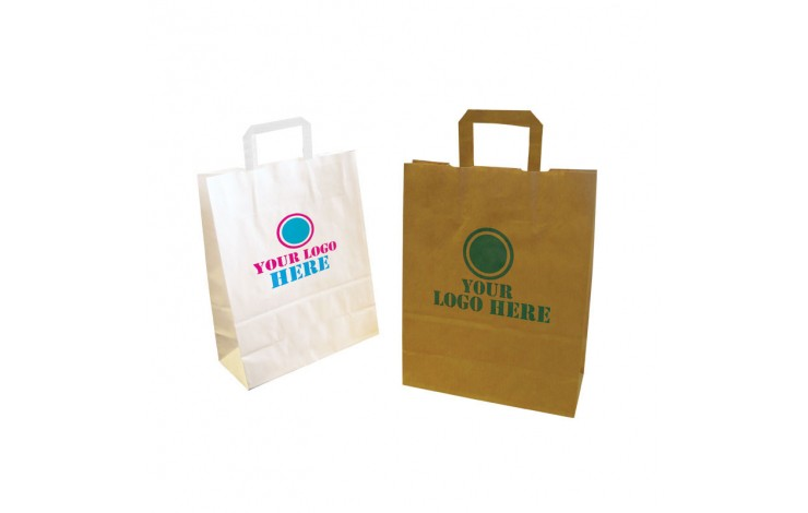 Medium Kraft Paper Bag with Tape Handle