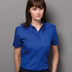 Kustom Kit Ladies' Corporate Short Sleeve Oxford Shirt