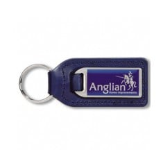Large Rectangular Stainless Steel  Medallion Keyfob