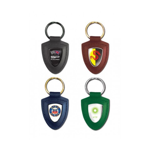 Leather Shield Keyring