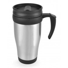 Metal Silver Travel Mug
