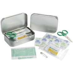 Mini First Aid Kit in an Aluminium Tin