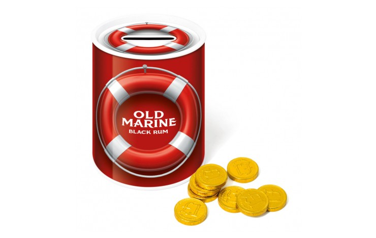 Money Tins with Chocolate Coins