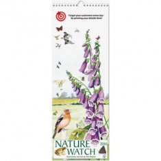 Nature Watch Slim Wall Calendar