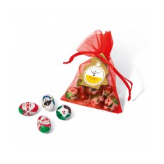 Organza Bag with Christmas Themed Chocolate