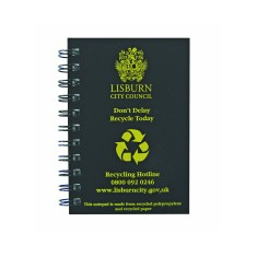 Recycled Tyre Cover Notepads - A5
