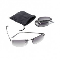 Rimless Folding Sunglass in Pouch