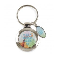 Round Domed Keyring