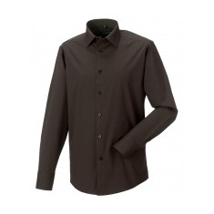 Russell Collection Men's Long Sleeve Fitted Shirt