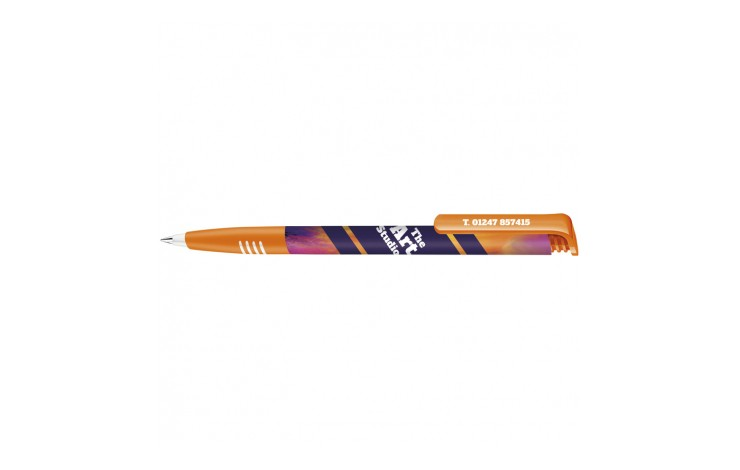 Senator Super Hit Polished Plastic Ballpen with Soft Grip and Xtreme Branding