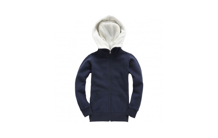Sherpa Fleece Turtle Neck Zip Hoodie