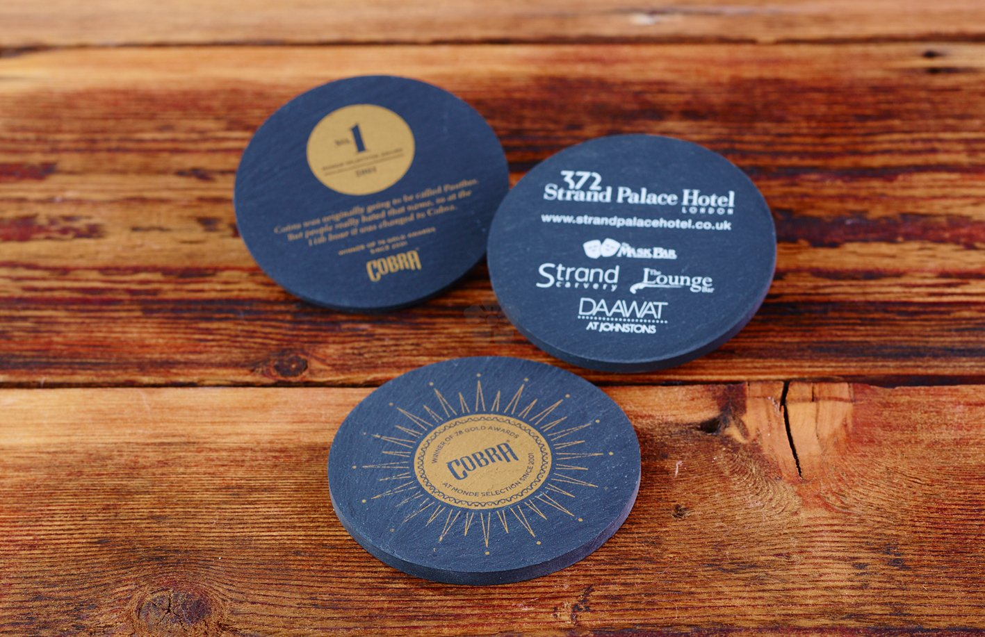 promotional slate coaster personalised by mojo promotions. Black Bedroom Furniture Sets. Home Design Ideas