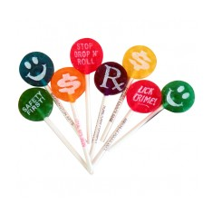 Small Logo Lollipop with Printed Stick