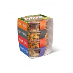 Stacked Protein Snacks in Eco Pot