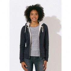 Stella Travels Sherpa Lined Zipped Hoodie