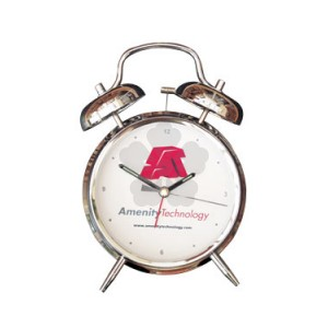 Promotional Twin Bell Alarm Clock Personalised By Mojo