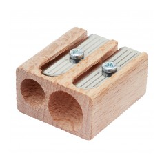 Wooden Pencil Sharpener - Double